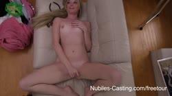Nubiles Casting - Aspiring pornstar gets face and tits jizze
