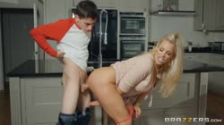 BRAZZERS - Rebecca More Meeting His Horny Monster A XXX Parody